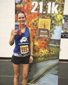 Morgan Book races the Valley Half Marathon